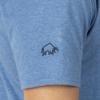 Raging Bull Big & Tall  Embroidered Bull Tee - Denim Blue