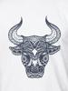 Raging Bull Tribal Bull Tee - White
