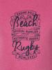 Raging Bull Beach Rugby Tee - Pink