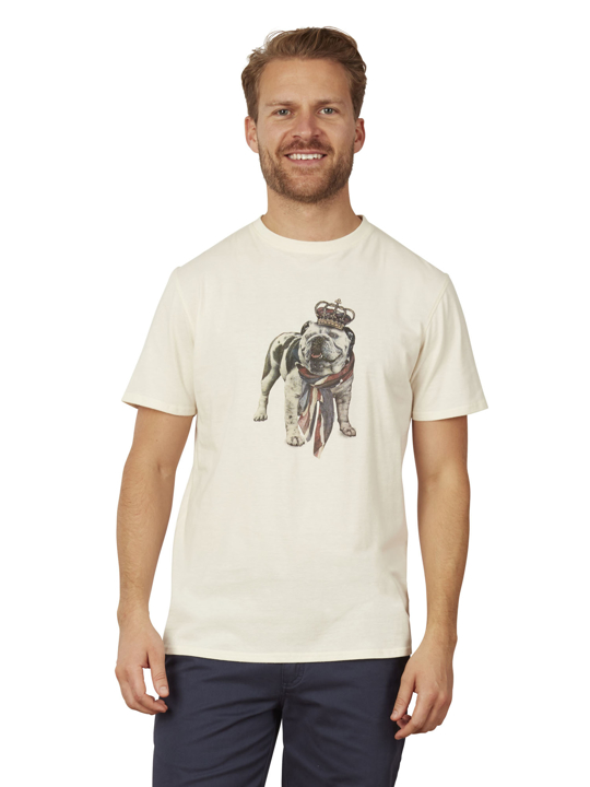 Raging Bull Big & Tall Bulldog Tee - Cream