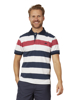 Raging Bull Big & Tall Irregular Stripe Polo - Vivid Pink