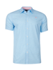 Raging Bull Short Sleeve Micro Daisy Print Shirt - Sky Blue