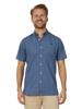 Raging Bull Big & Tall Short Sleeve Lavender Print Shirt - Navy