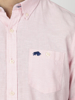 Raging Bull Big & Tall Short Sleeve Linen Shirt - Pink