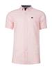 Raging Bull Short Sleeve Linen Shirt - Pink