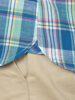 Raging Bull Big & Tall Short Sleeve Madras Check Shirt - Mint