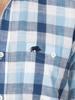 Raging Bull Short Sleeve Oversized Gingham Shirt - Navy