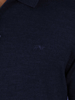 Raging Bull Long Sleeve Signature Knit Polo - Denim