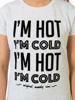 Raging Bull I'm Hot / I'm Cold Tee - White Fleck