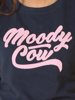 Raging Bull Moody Cow Script Tee - Navy