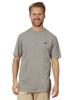 Model wearing High quality grey t-shirt
