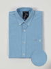 Raging Bull Short Sleeve Gingham Shirt - Sky Blue
