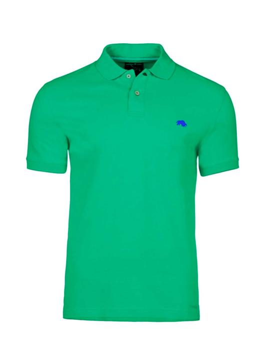 Raging Bull Slim Fit Plain Polo - Green