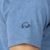 Raging Bull Paisley Bull Head Tee - Denim Blue