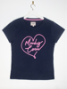 Raging Bull Moody Cow Heart Tee - Navy