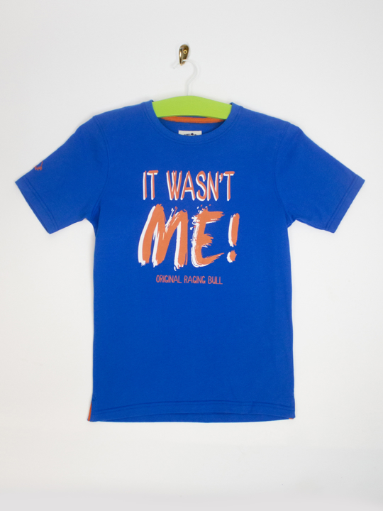 Raging Bull It Wasn't Me Tee - Cobalt Blue