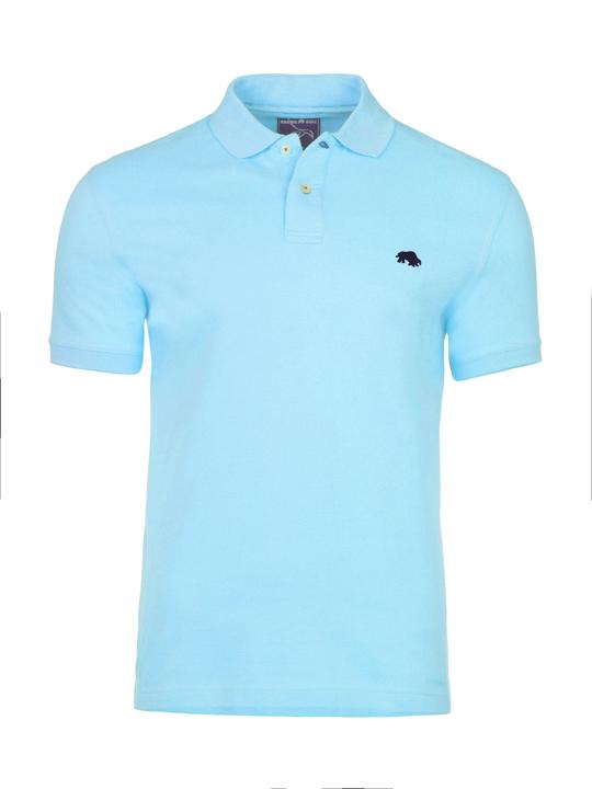 Raging Bull Slim Fit Plain Polo - Sky Blue
