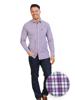 Raging Bull Long Sleeve Multi Gingham Shirt - Purple