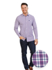 Raging Bull Big & Tall Long Sleeve Multi Gingham Shirt - Purple